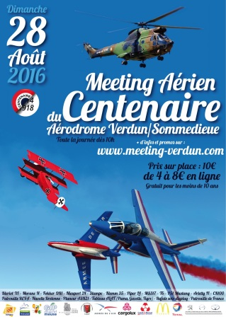 AFFICHE Meeting Verdun 28 Aout 2016